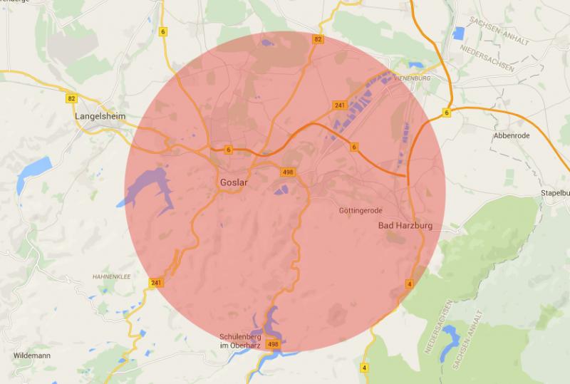 Umkreis Karte